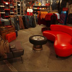 The only place where you could find a tire coffee table.