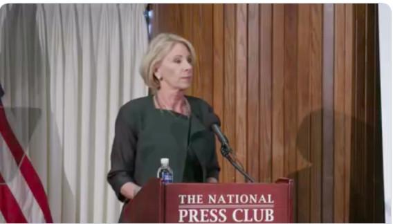 DeVos at the National Press Club.