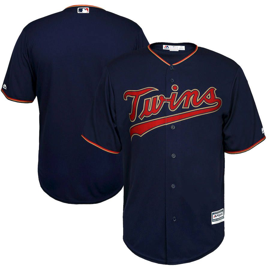 9c70fa78 Twins Majestic Navy Alternate Official Cool Base Team Jersey for $99.99  MLBShop.com