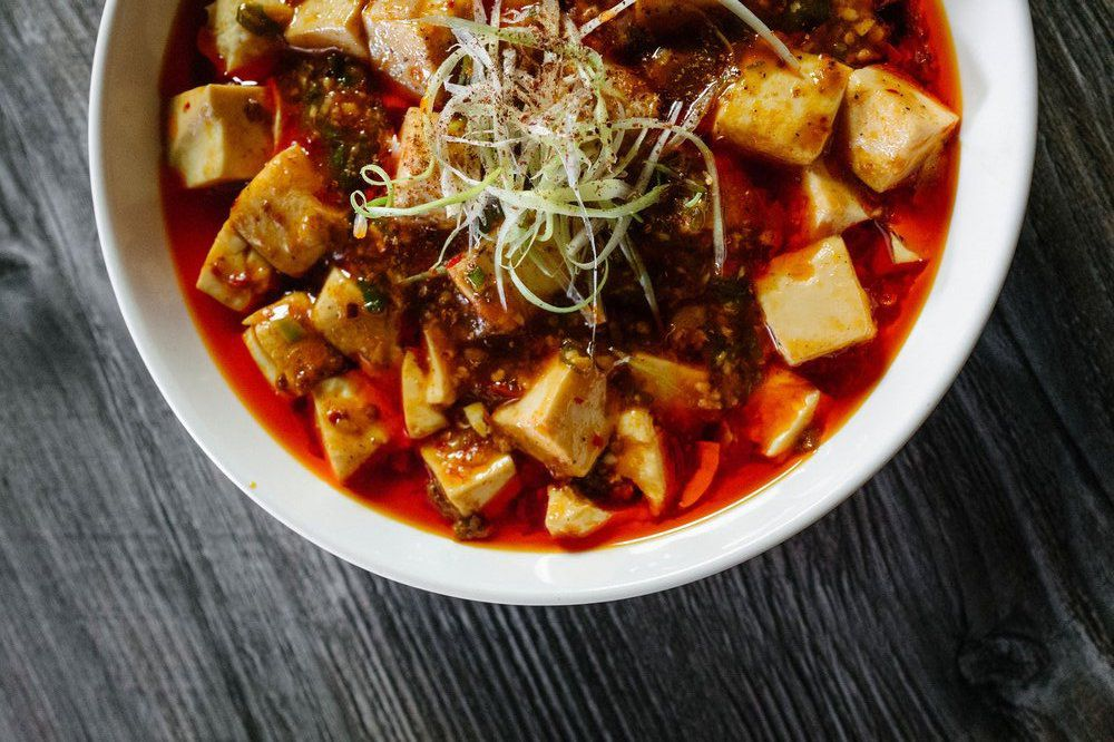 Mapo tofu from Fire Belly in Larchmont.