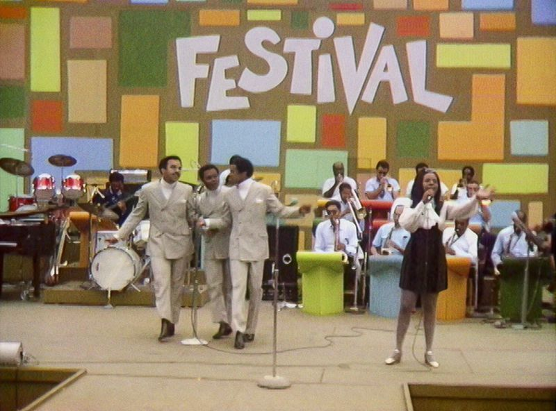 """Gladys Knight & the Pips perform at the Harlem Cultural Festival in 1969, as featured in the documentary """"Summer of Soul."""" Photo Courtesy of Searchlight Pictures."""