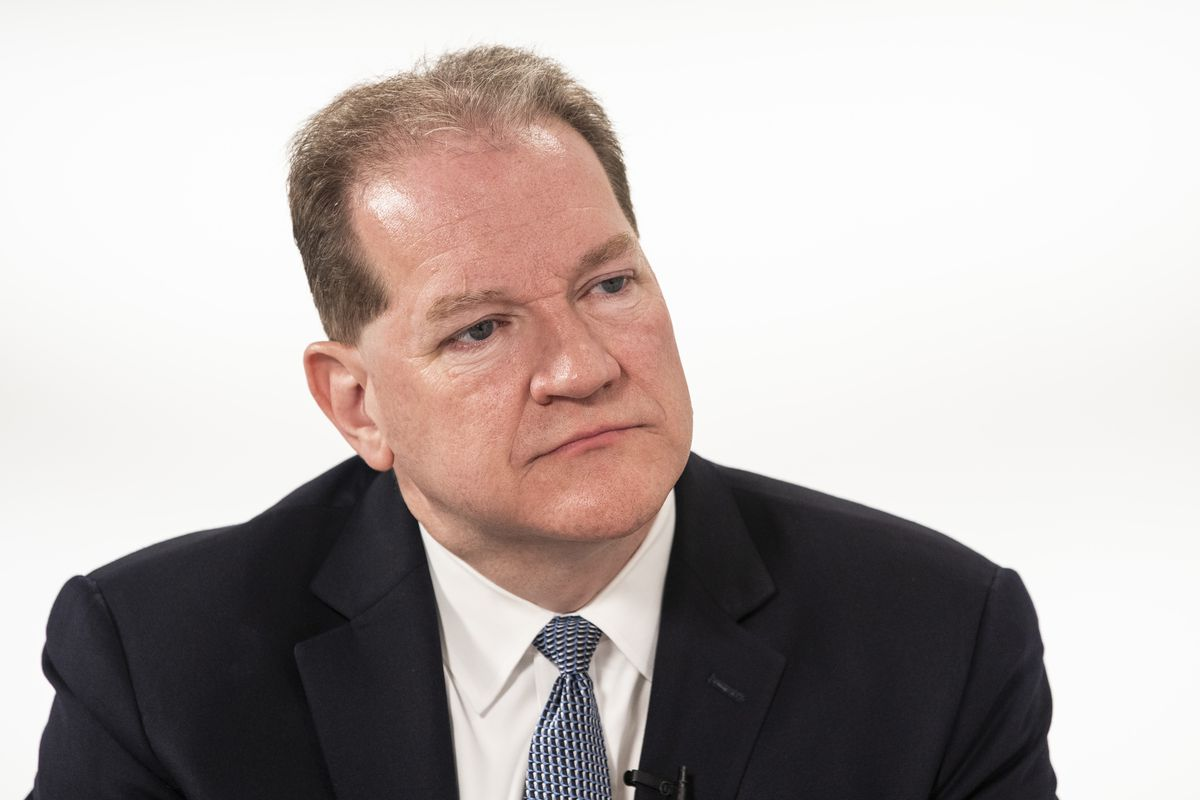 Jack Lavin, president and CEO of the Chicagoland Chamber of Commerce sits down for a conversation with City Hall reporter Fran Spielman in the Chicago Sun-Times studio, Friday morning, June 7, 2019. |