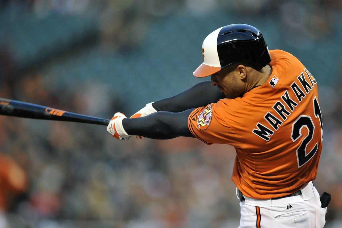 Let's focus on good things about last night, like Nick Markakis going 4-for-5.