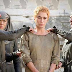 Season 5: The nuns give Cersei a slut-shaming pixie cut.