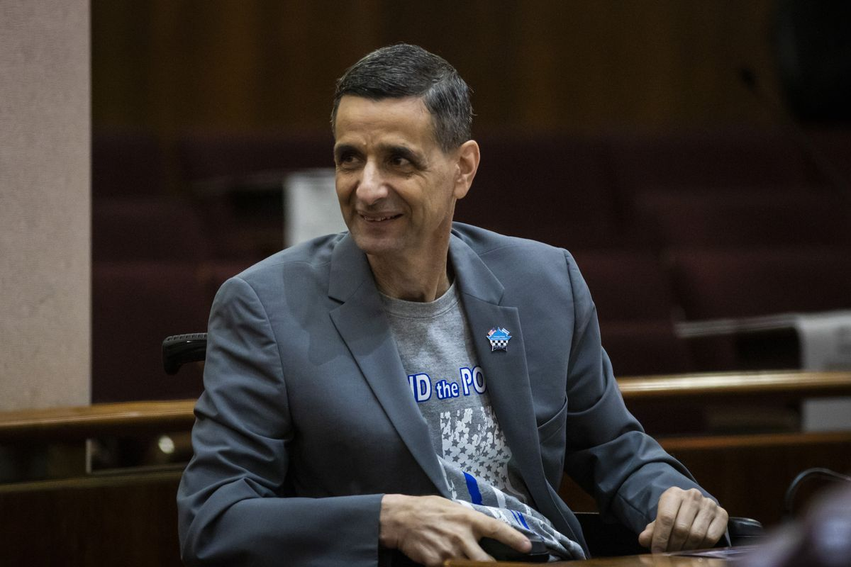 Ald. Nicholas Sposato (38th) attends a Chicago City Council meeting at City Hall, Wednesday, July 21, 2021.