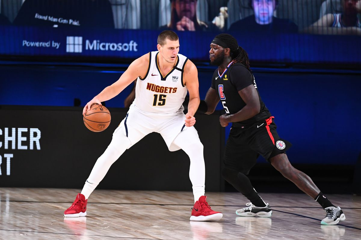 Nikola Jokic of the Denver Nuggets handles the ball against the LA Clippers during Game Two of the Western Conference Semifinals of the NBA Playoffs on September 5, 2020 at the AdventHealth Arena at ESPN Wide World Of Sports Complex in Orlando, Florida.