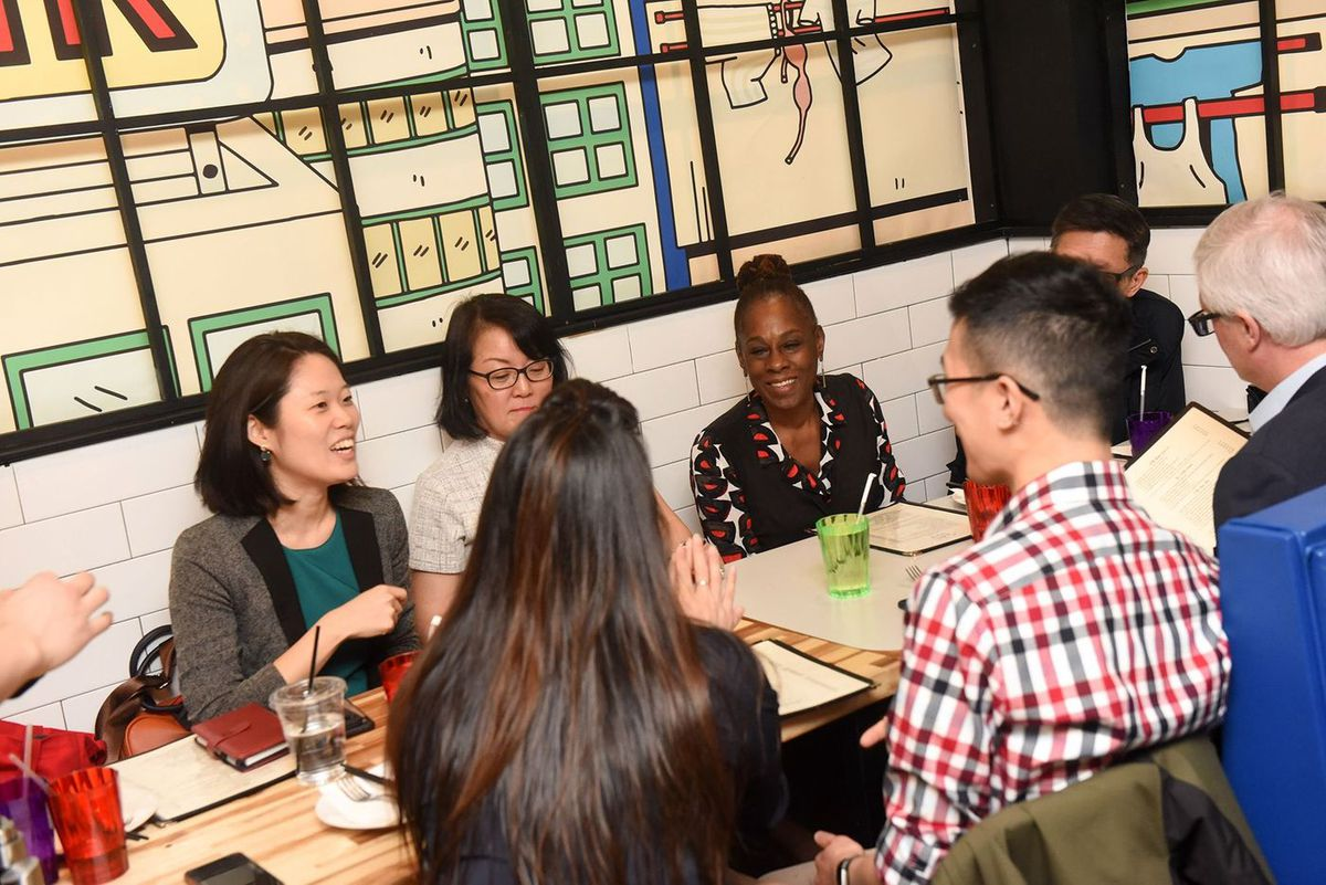 New York City First Lady Chirlane McCray has lunch with elected officials and community leaders at Kong Sihk Tong restaurant in Chinatown in Manhattan on Monday, March 9, 2020.