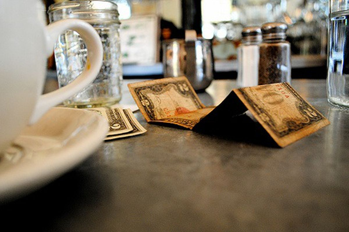 $2 Bills on the Table at Five Leaves