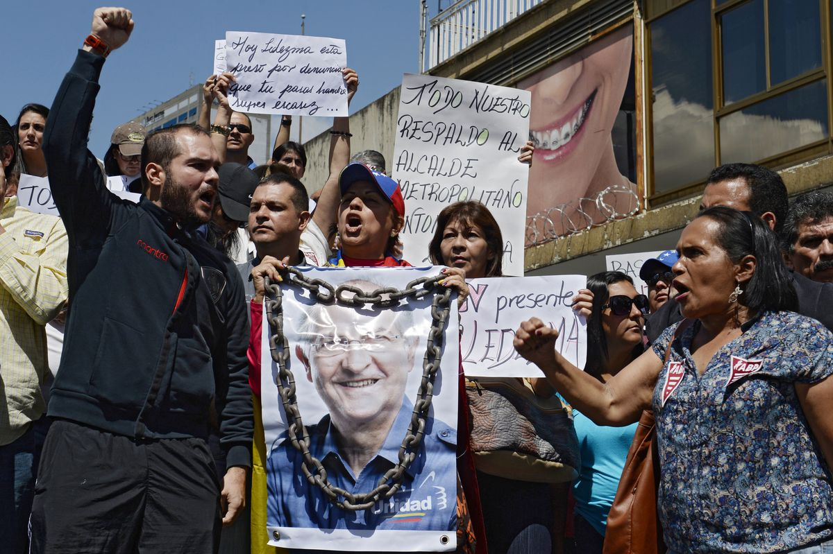 Venezuela Ledezma protesters