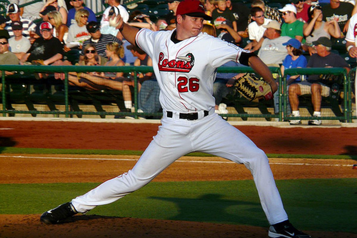 Allen Webster throwing for the Loons back in 2010