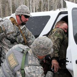"""Troy James Knapp, known as the """"Mountain Man,"""" was captured in the Ferron Reservoir area on Tuesday, April 2, 2013."""