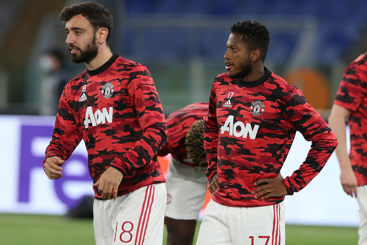 Bruno Fernandes and Fred - Manchester United - Premier League