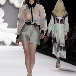 The Carolina Herrera Spring 2013 collection is modeled during Fashion Week in New York,  Monday, Sept. 10, 2012.