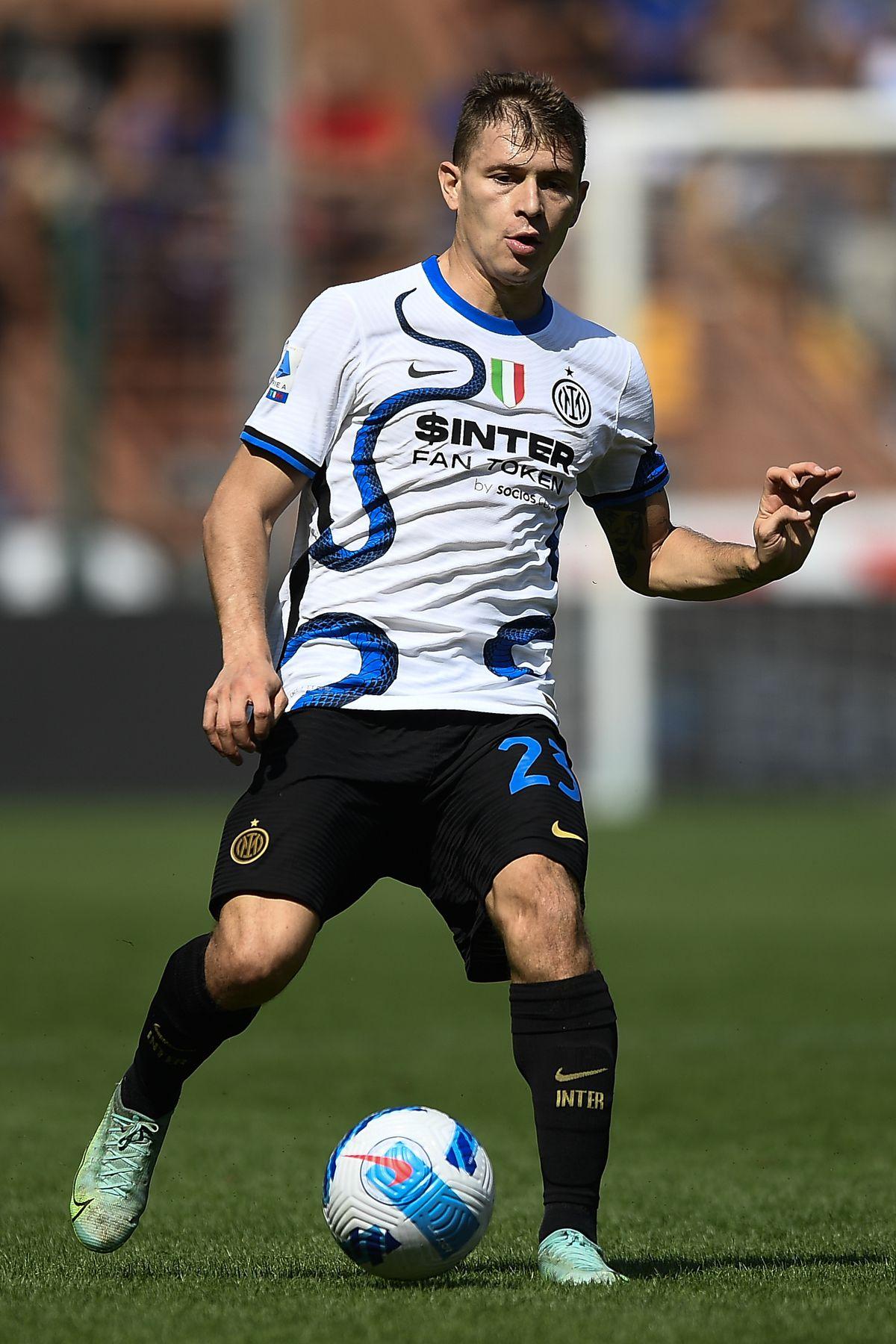 Nicolo Barella of FC Internazionale in action during the...