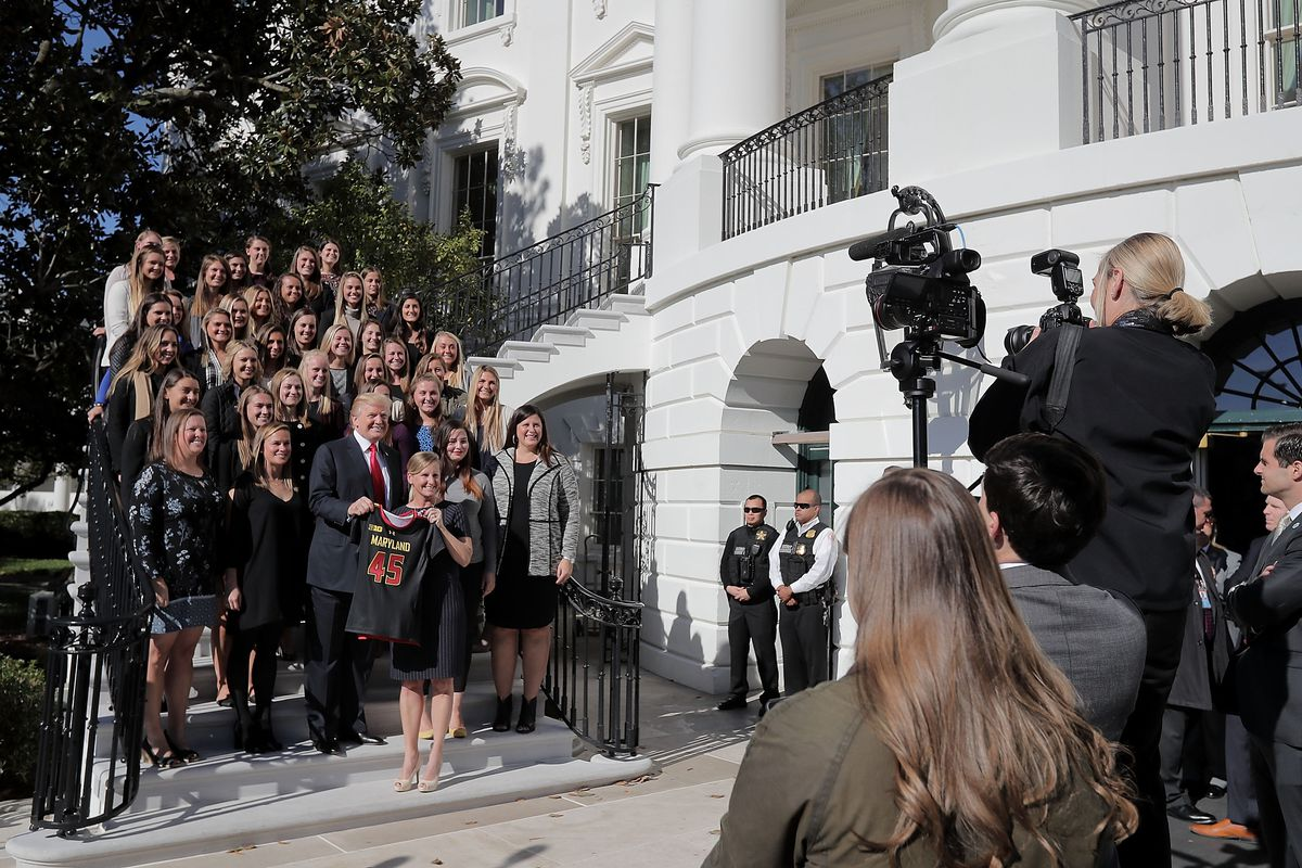 President Trump Hosts NCAA National Championship Teams To The White House