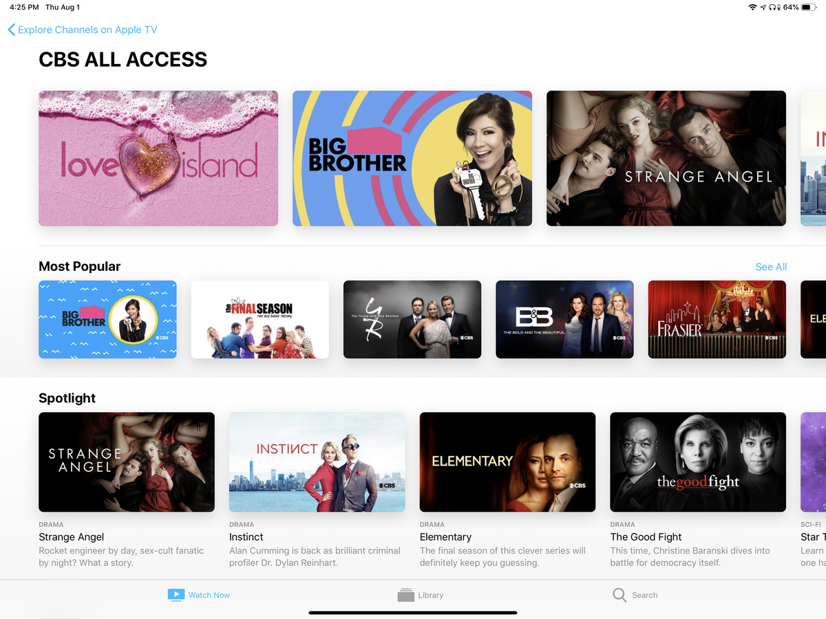 You can now subscribe to CBS All Access through the Apple TV