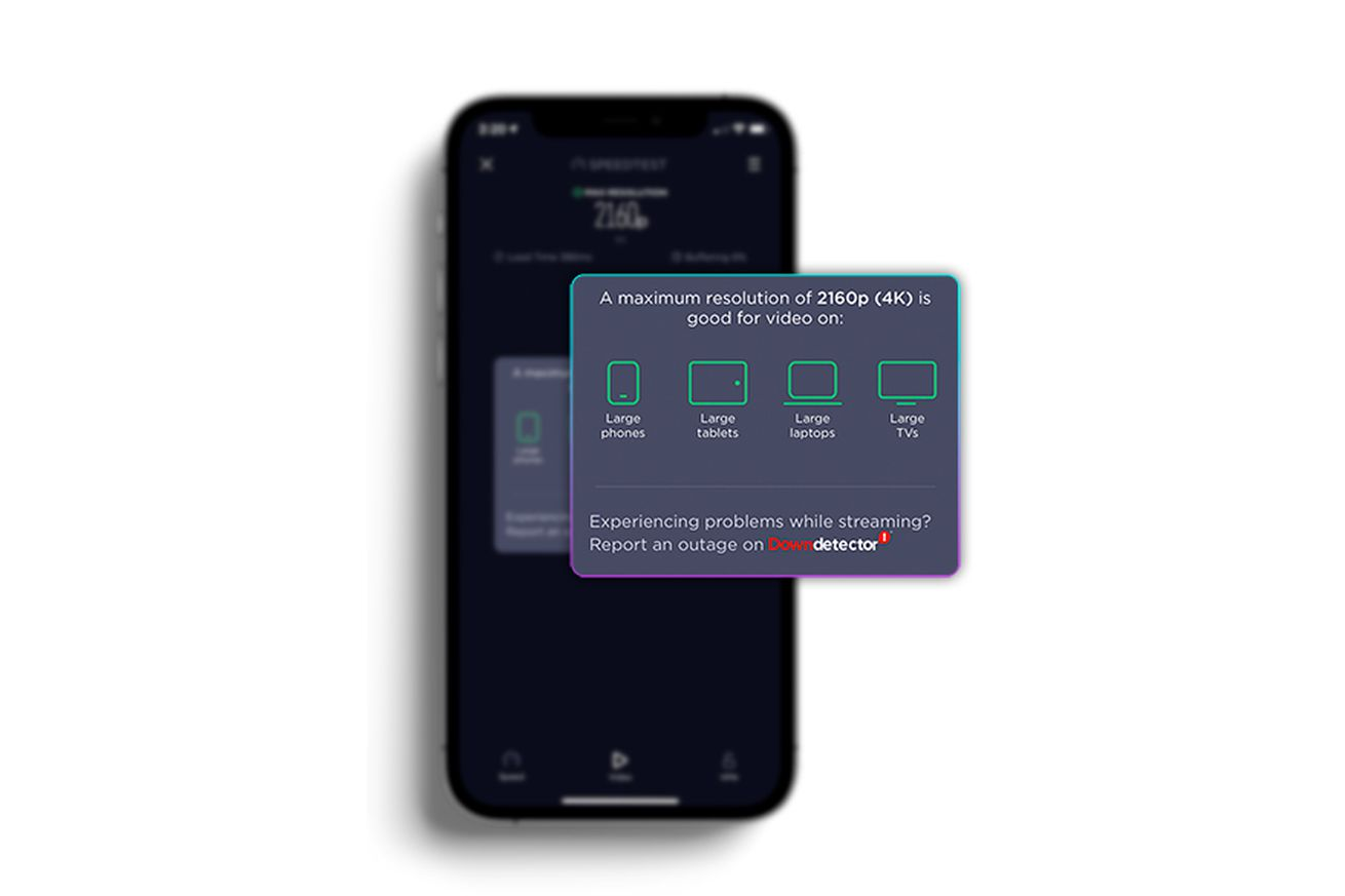 SpeedTest app now measures your network's ability to stream video