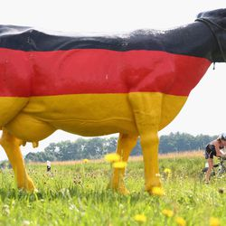 A participant competes in the bike leg during the Challenge Roth on July 20, 2014 in Roth, Germany. (Photo by Alex Grimm/Getty Images)