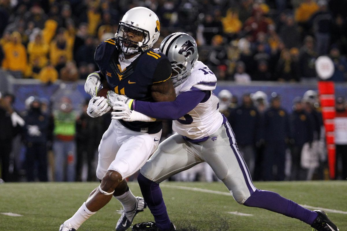 K-State doesn't have a #11, so we'll just show you Kevin White (#11) getting tackled by Randall Evans.