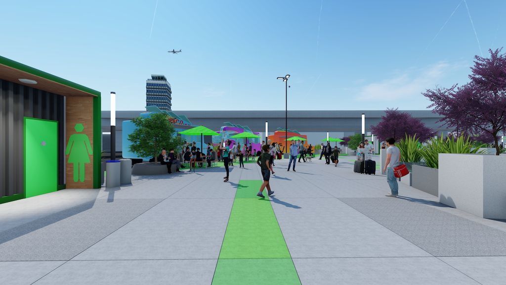 Renderings for the LAX-it rideshare pickup lot