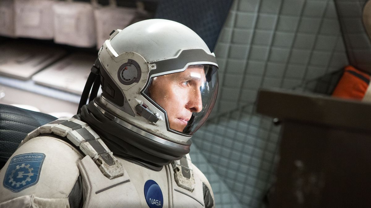 Matthew McConaughey in full astronaut gear in Interstellar