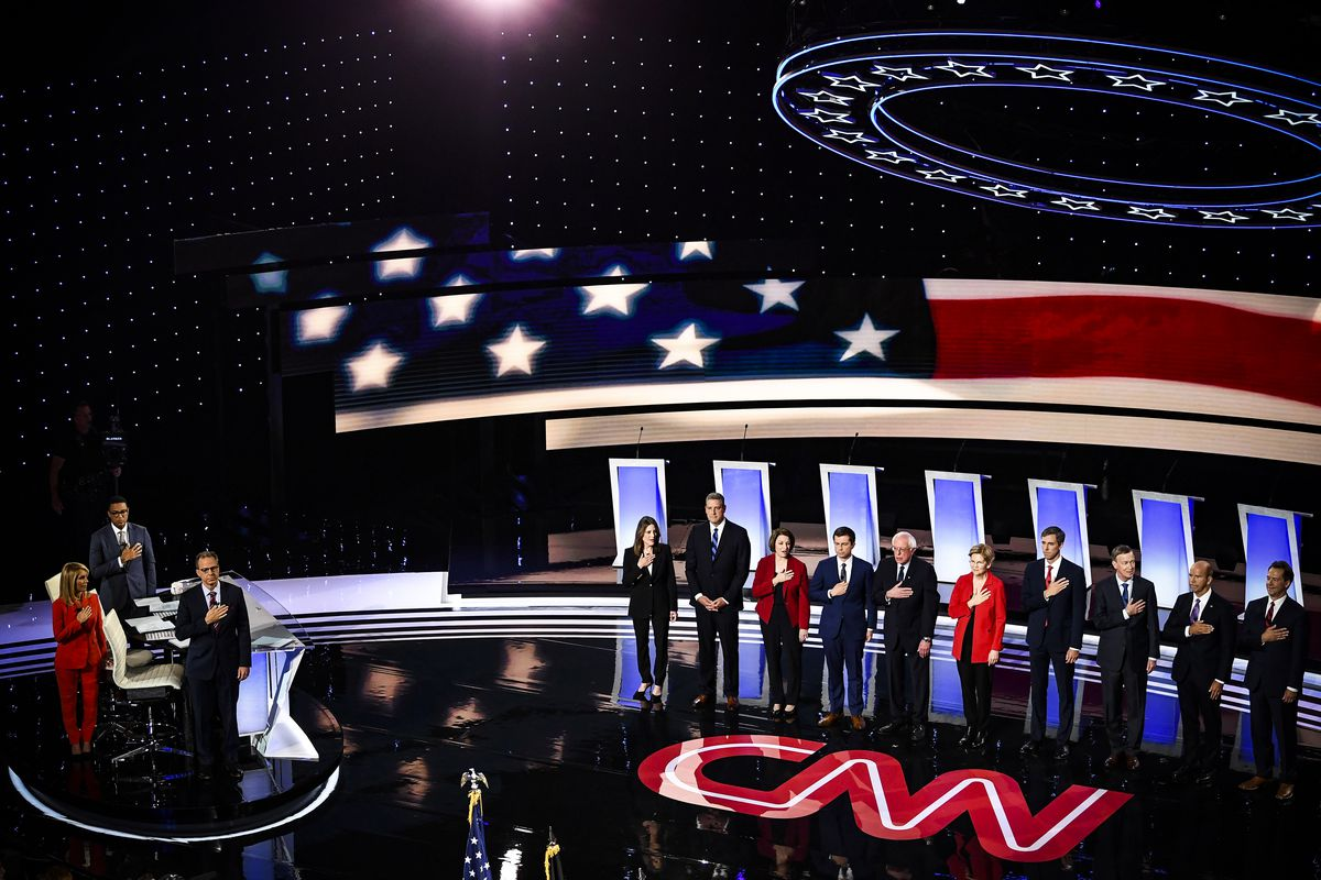 CNN hosted the second Democratic primary debate of the 2020 presidential campaign season at the Fox Theatre in Detroit, Michigan. on July 30, 2019.
