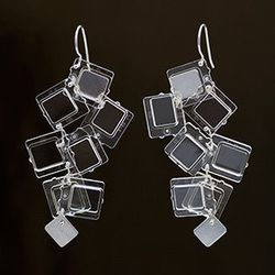 Iced windows medium earrings, $150