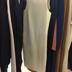 Leather shift dress, $750