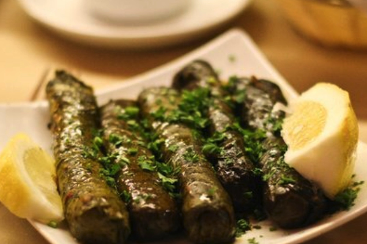 Dolmas from Cafe Istanbul in Beverly Hills, California.