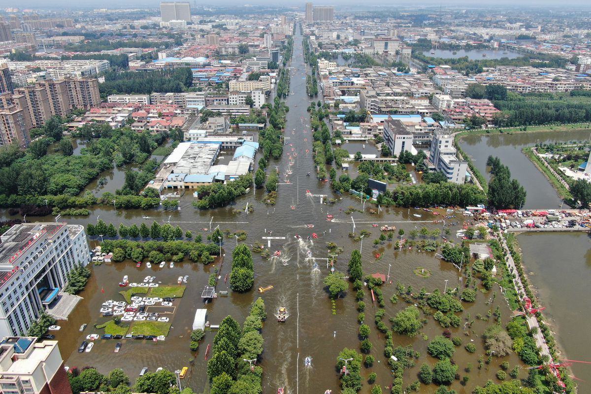 Rescue Works At Floods In Henan