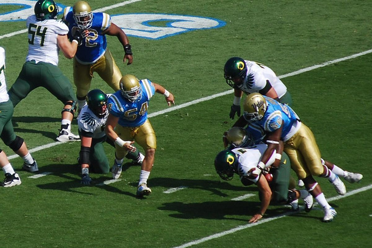 <em>Can the Bruins bring it in every play at the Rose Bowl today? Photo Credit: Telemachus</em>