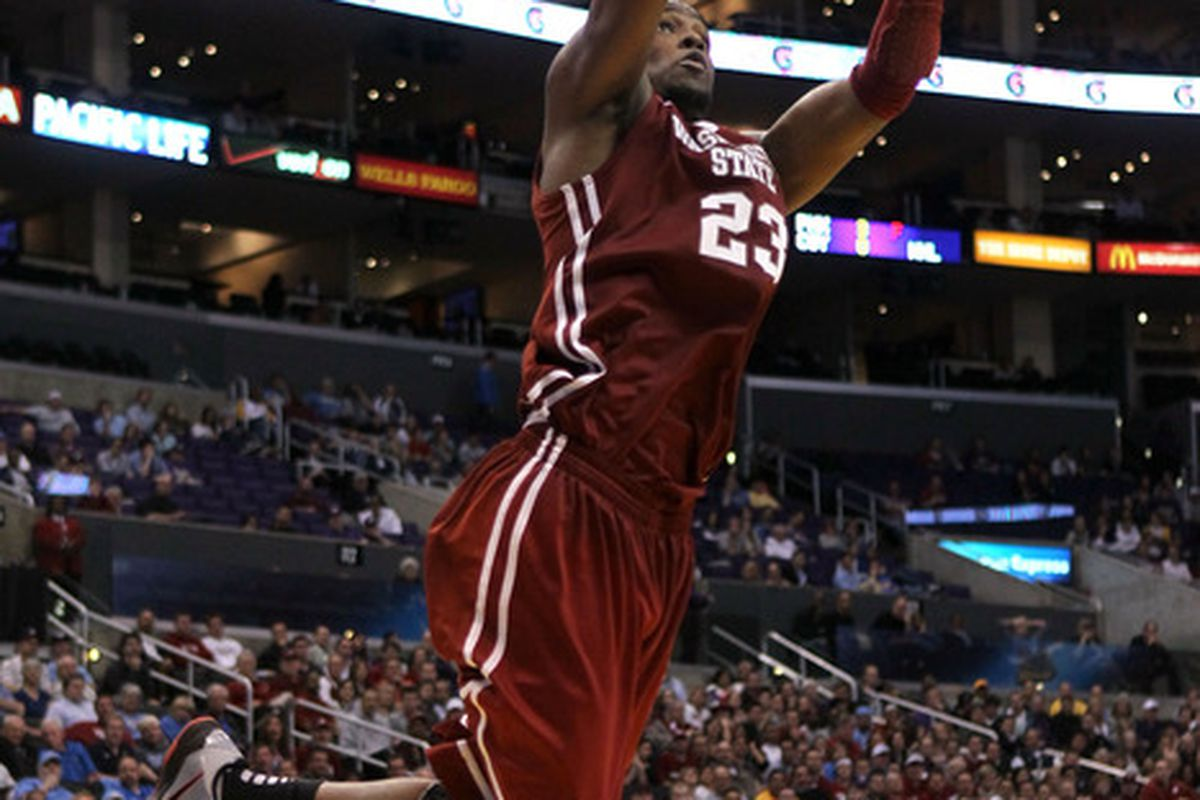 DeAngelo Casto won't be doing this in a Cougar uniform anymore after entering the 2011 NBA Draft.