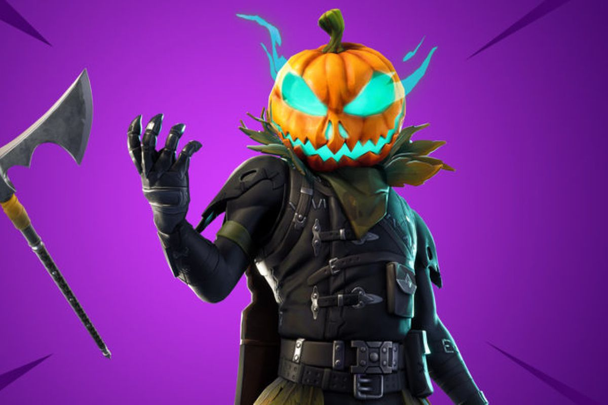 Hollowhead, a pumpkin-headed Fortnite skin.