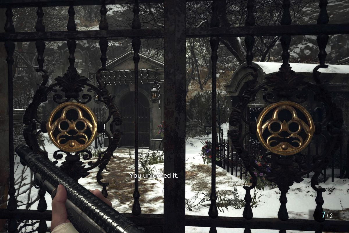 Resident Evil Village Iron Insignia Key guide header gate