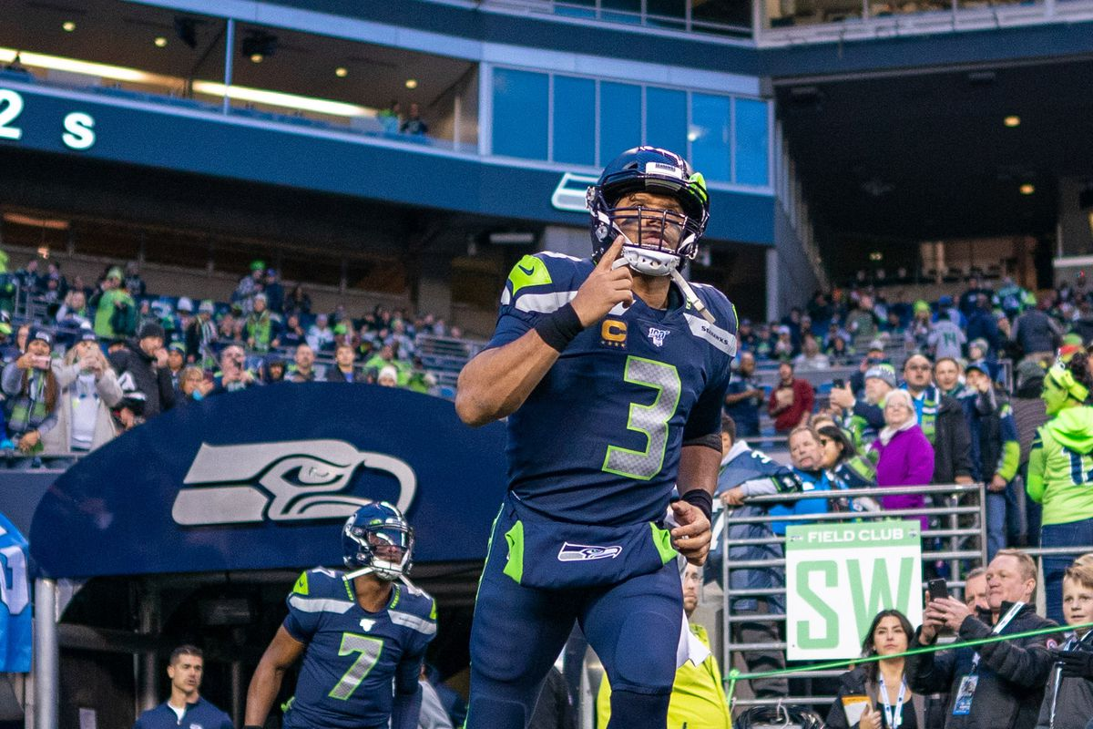 Seattle Seahawks quarterback Russell Wilson before the game against the San Francisco 49ers at CenturyLink Field.