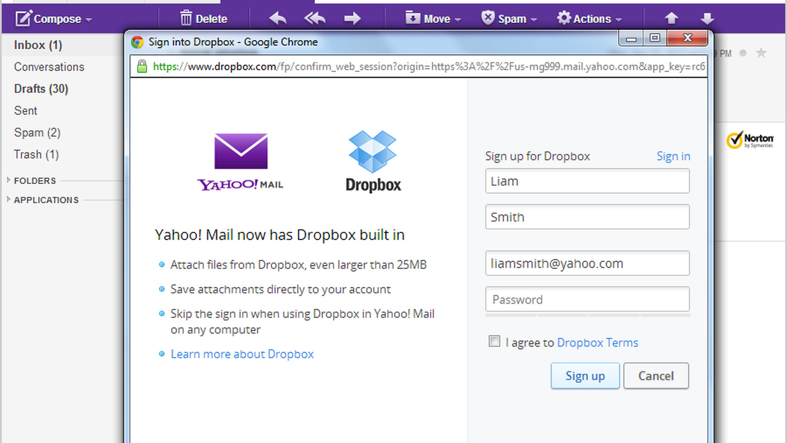 Yahoo Mail adds Dropbox attachment support, deepens cloud