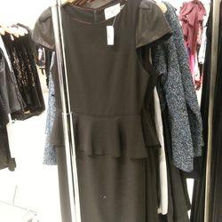 Alice + Olivia Black Peplum Dress, $160