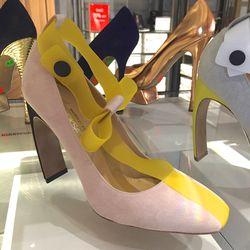 Suede heels, $264 (were $880)