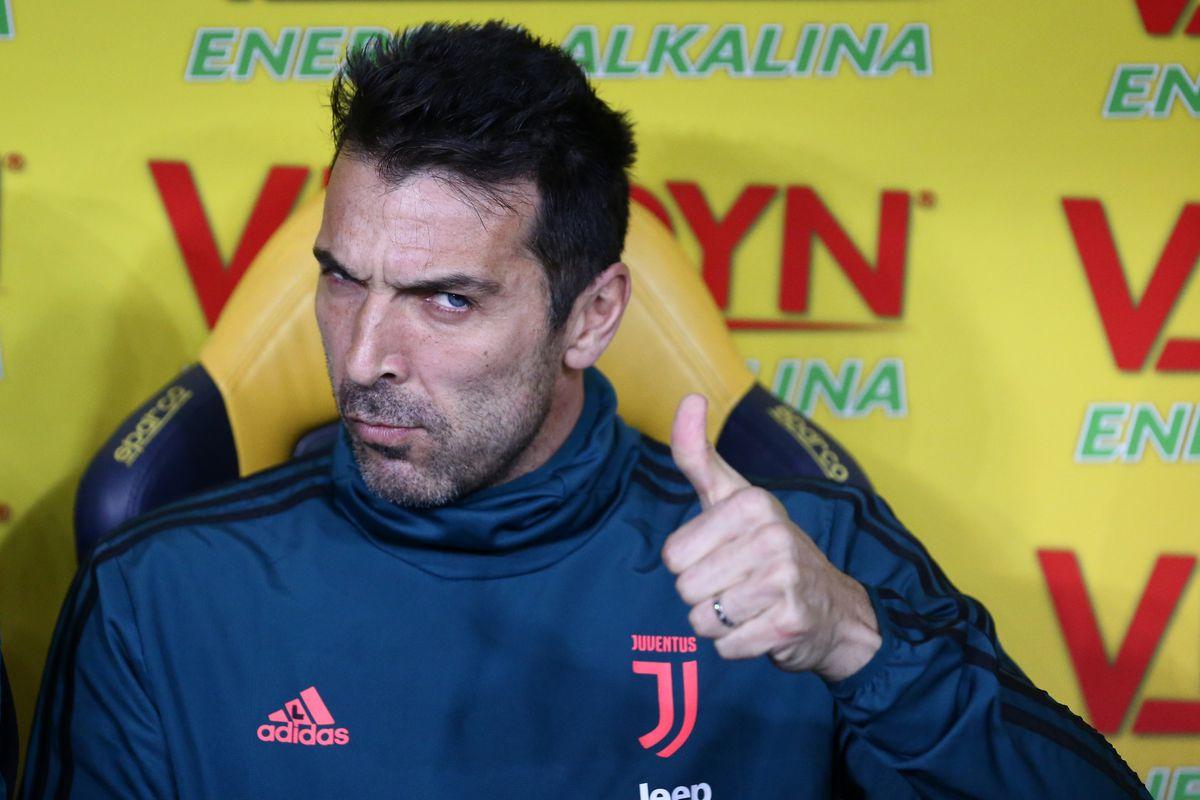Gianluigi Buffon of Juventus FC before the Serie A match...