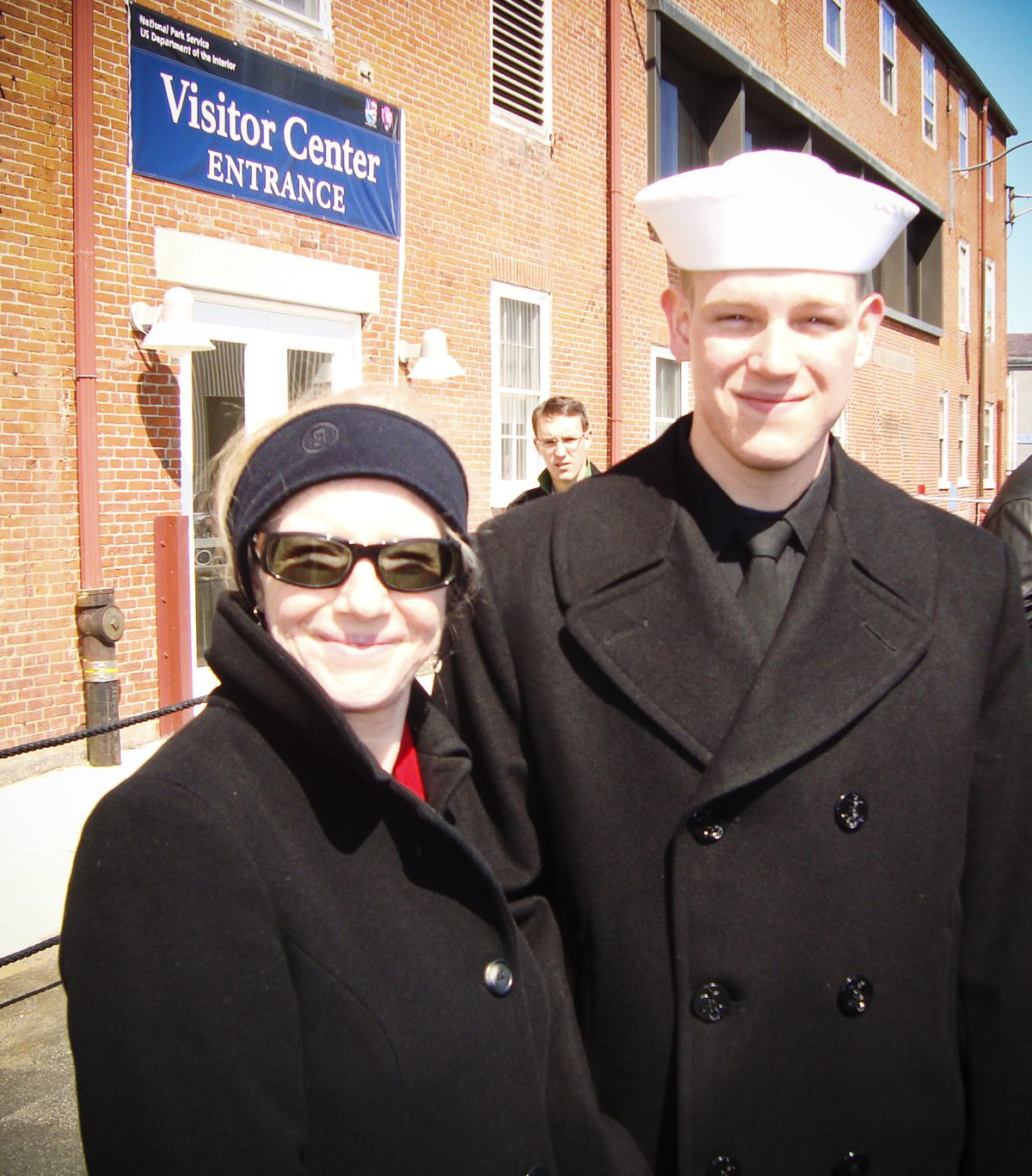 Kim and Sean Blake, shortly after Sean joined the Navy.