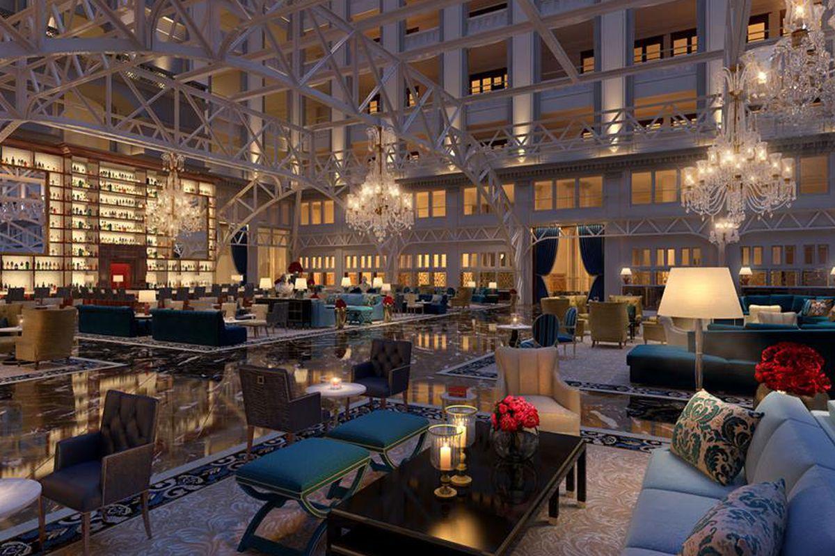 Trump Hotel lobby rendering