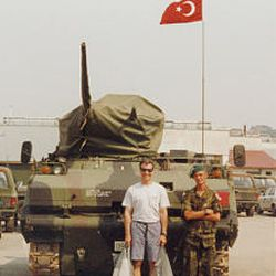 Assistant U.S. Attorney Felice Viti at military base in Turkey in 2000. Viti was in Bosnia for six months.