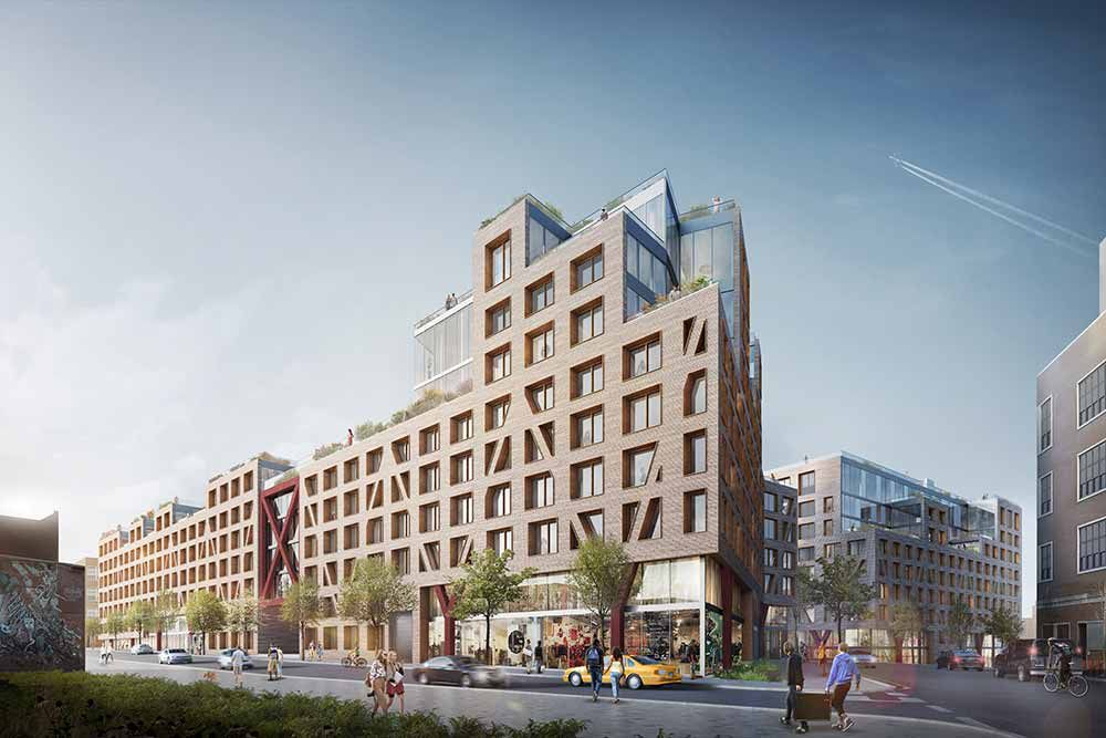 Rendering for Bushwick II, the latest rental at the Rheingold Brewery site.