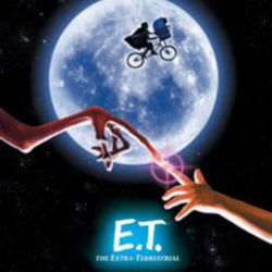 """A promotional poster for """"E.T. The Extra-Terrestrial"""" (1982), one of the 1980s Steven Spielberg films that served as an inspiration for the Netflix hit show """"Stranger Things."""""""
