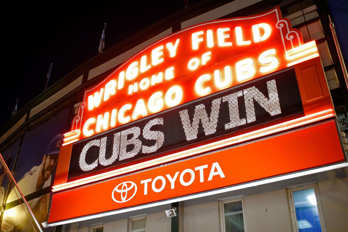 Chicago Cubs Fans Watch Game Four in Wrigleyville