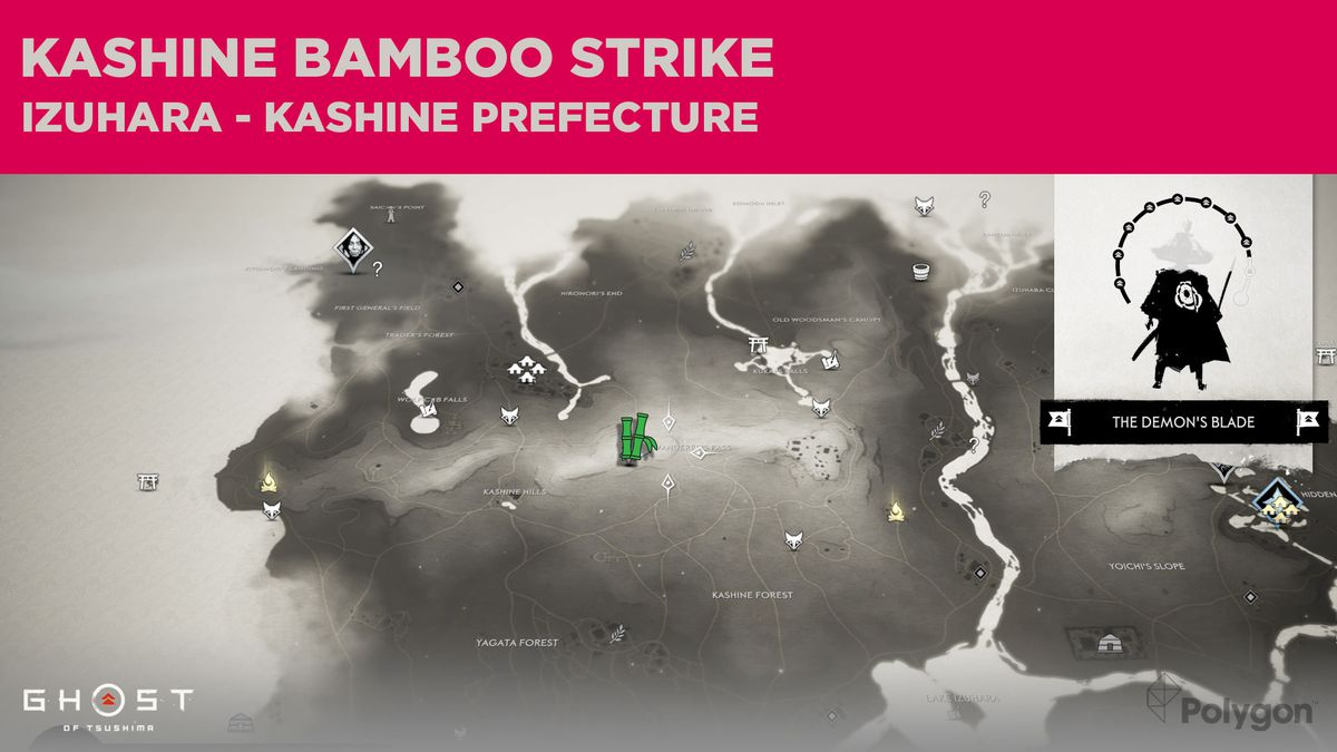 The Bamboo Strike location in Kashine in Ghost of Tsushima