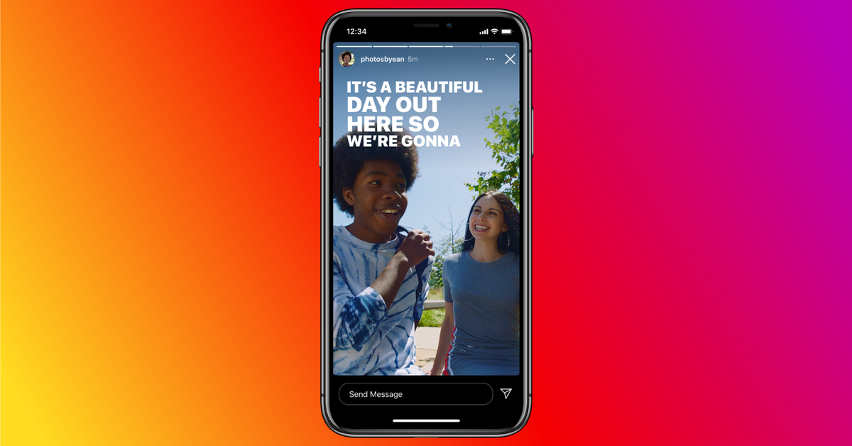 Instagram will now let you auto-caption Stories with just a sticker