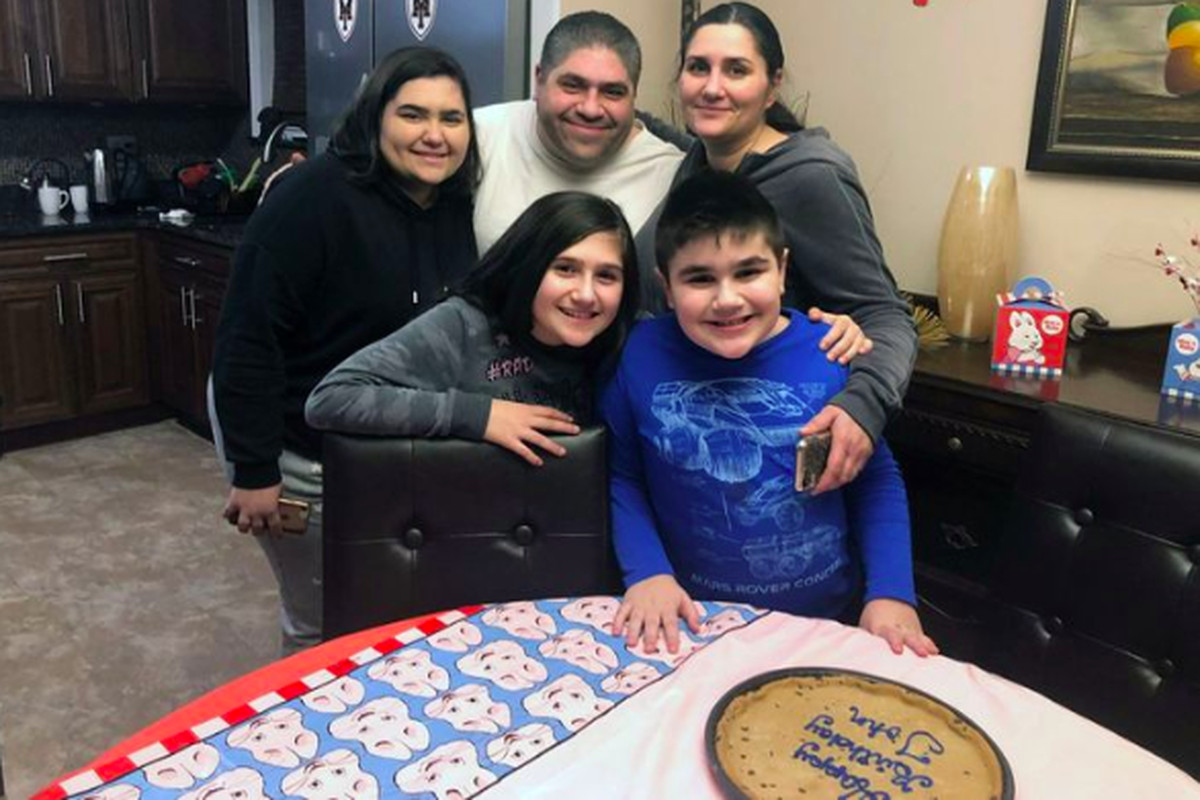 The Curich-Raccuglia family is concerned whether their son, John (bottom right), a special education student, will get needed therapy while schools are closed due to coronavirus concerns