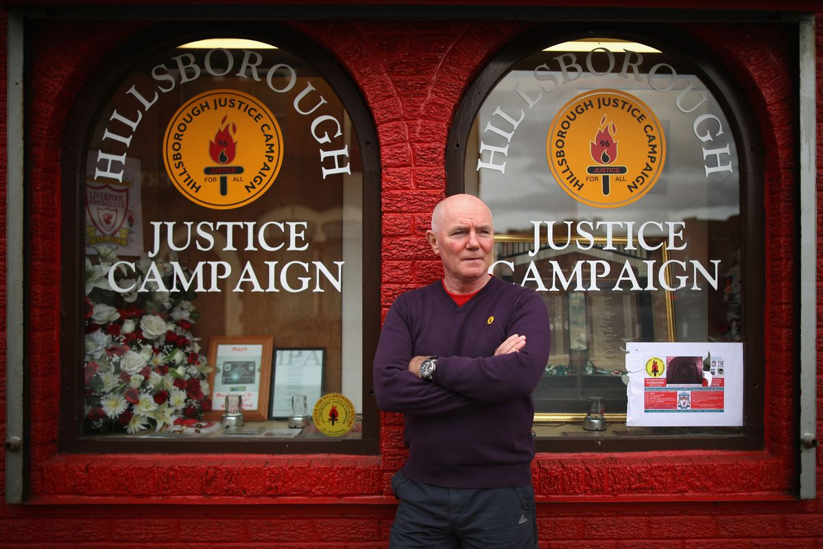 Steve Kelly, of the HJC, outside the campaign HQ, 2012