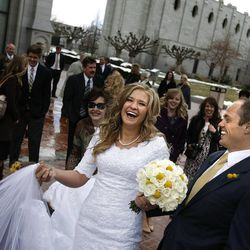 Michelle Oliverson and Tyler Newman were married at the Salt Lake LDS Temple on Friday, March 2, 2012.  The two met after Tyler purchased a bicycle Michelle posted for sale in the KSL Classifieds.